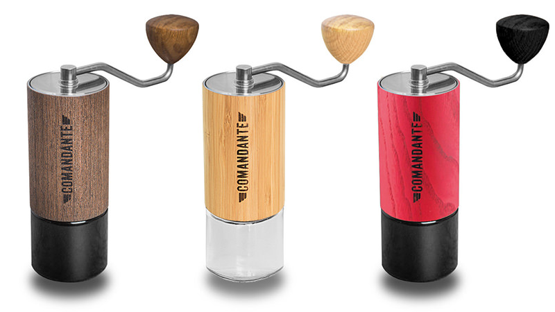 Comandante Manual Coffee Grinder in wenge, bamboo and red