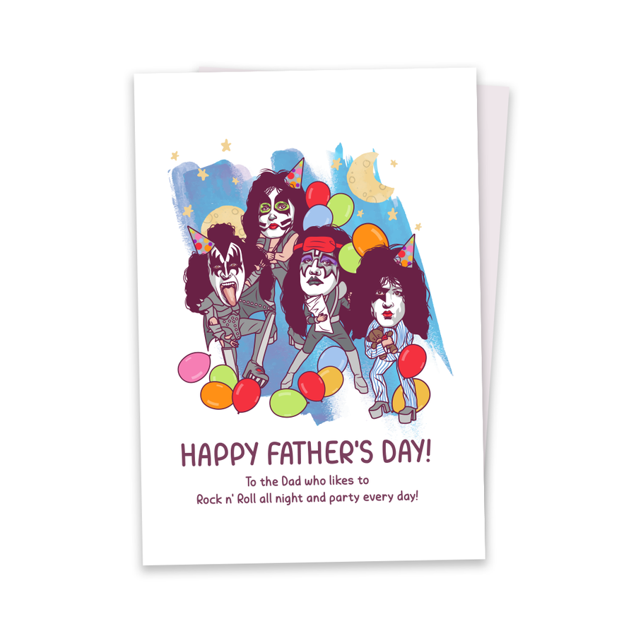 Rock n' Roll All Night - Greeting Card
