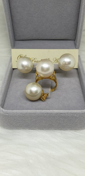 13mm Champagne South Sea Pearl Set