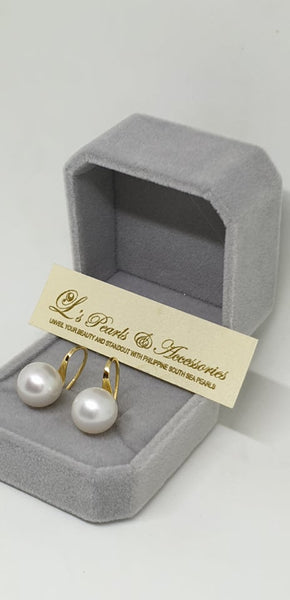 10mm White South Sea Pearls Earrings