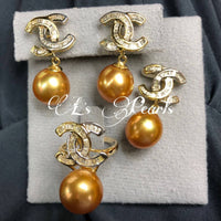 13mm Golden South Sea Pearl Set