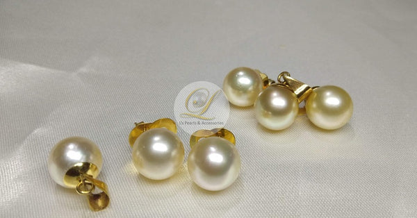 12mm Champagne South Sea Pearl Set