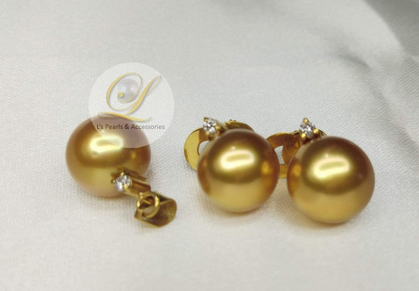 12mm Golden South Sea Pearl Set