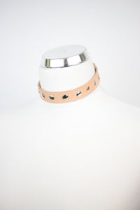Studded Choker Large- NUDE