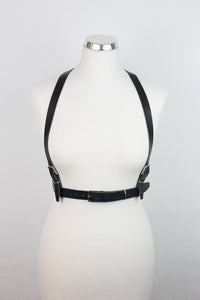 Double Trouble Body Leather Harness
