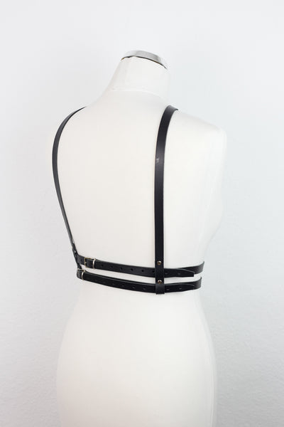 Double-Sided Leather Body Harness