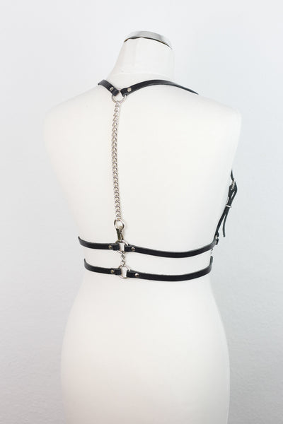 Three Ways Leather Body Harness