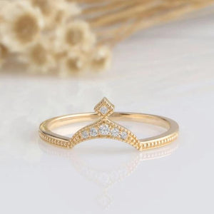 14K Solid Gold Rings Promise Ring Yellow gold Ring