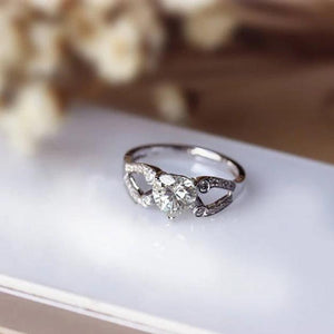 1.0CT Heart Shape Moissanite Ring Wedding Ring White Gold Ring