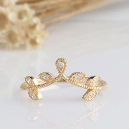 14K Solid Gold Rings  Yellow gold Ring Promise Ring