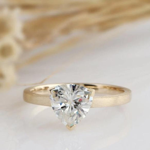1.70CT Trillion Cut Moissanite Ring Anniversary Ring