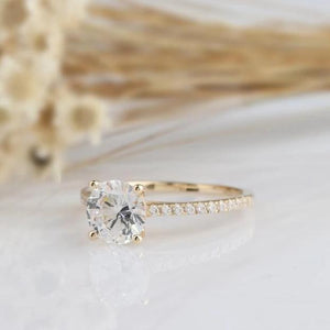 1.25CT Round Moissanite Anniversary Ring Engagement Ring