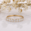 Cushion Cut Simulated Diamond Wedding Band 14k Solid Gold Ring