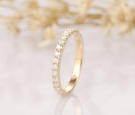 14K Solid Yellow Gold 2MM Band Width Matching Bands