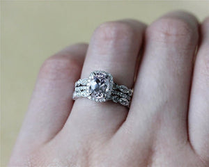 1.48CT Oval Cut Moissanite Engagement Ring White Gold Ring