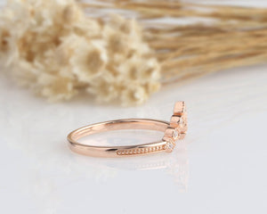 14K Solid Gold Rings Promise Ring Rose gold Ring