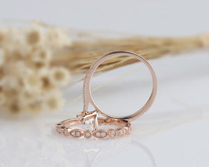 1.5CT Oval Moissanite Engagement Ring Rose Gold