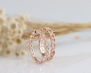 14K Solid Gold Rings Promise Ring 2PCS Rings
