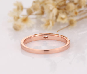 14K Solid Gold Moissanite Wedding Rings Simple Design Wedding Band Promise Ring