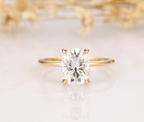 7x9mm Oval Cut Moissanite Anniversary Ring Engagement Ring