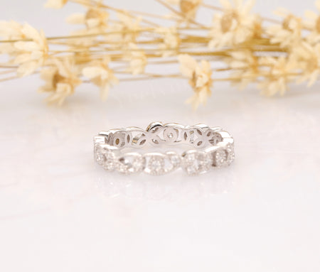 14K Solid White Gold Rings Promise Ring White gold Ring