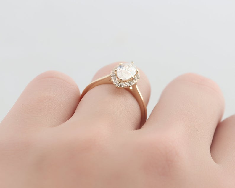 1CT Marquise Cut Anniversary Ring Designer Rings Engagement Ring