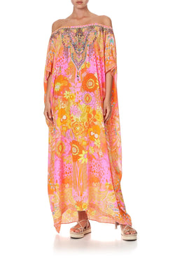 OFF SHOULDER KAFTAN