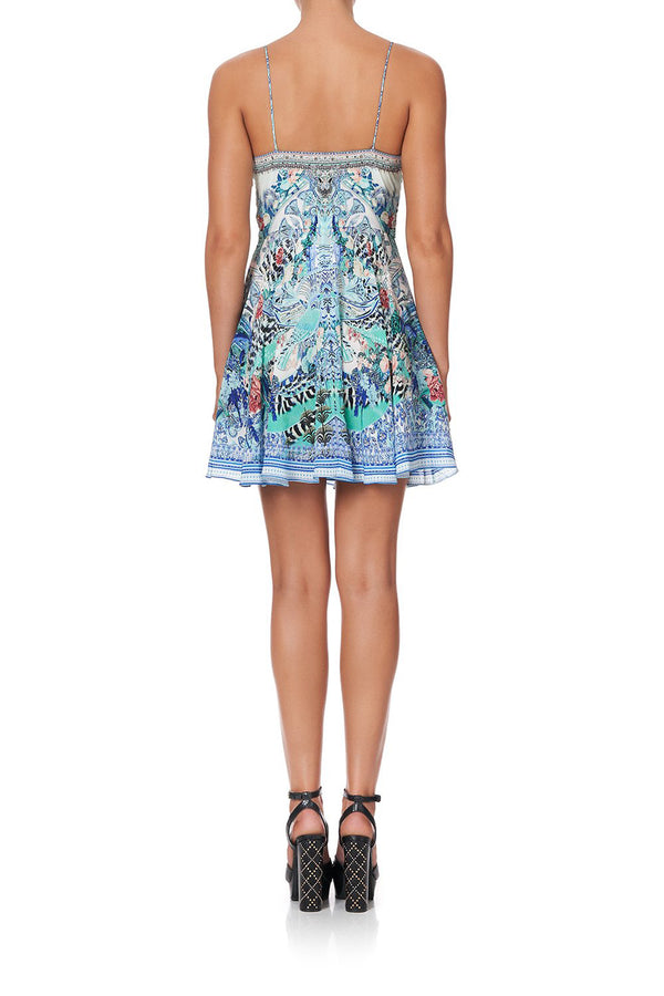 WINGSOFL Short Dress with Tie Front