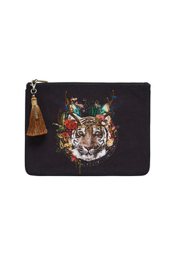 EMERORBI Small Canvas Clutch