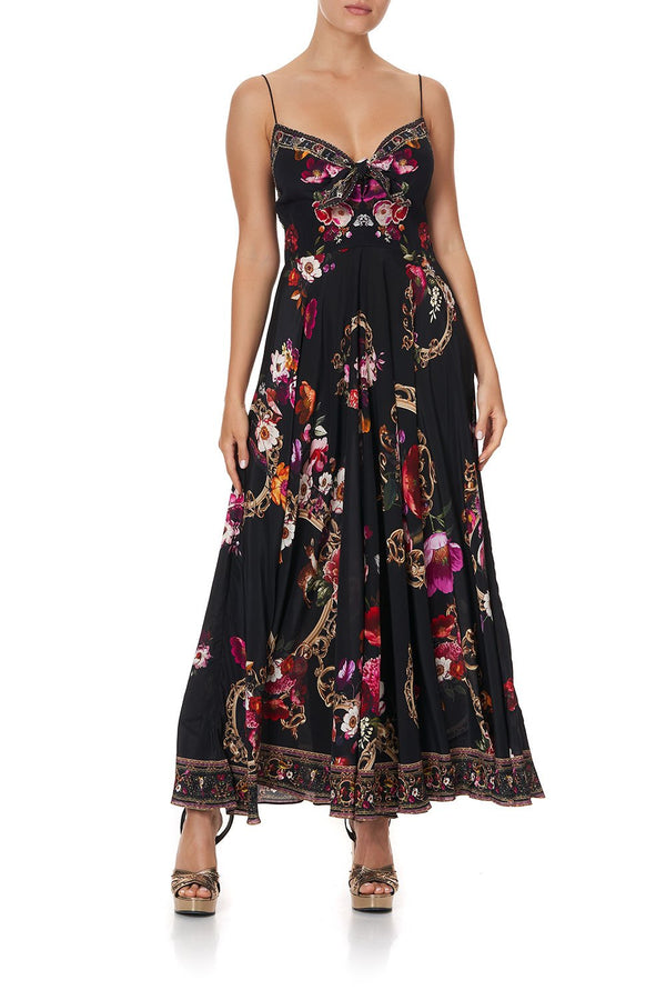 MIRRORMI Long Dress w/ Tie Front
