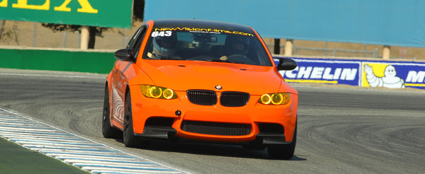 M3 BMW Lime Rock Park Edition with NewVision Windshield Tear-Offs.