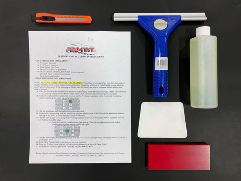 Do It Yourself - Industrial Protection Film Small Installation Tool kit (Installations under 3 Square Feet)