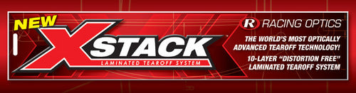 XStack Laminated Auto Helmet Tear-Off System - Impact Champ, Nitro, Super Cyclone - Pro-Tint, Inc.