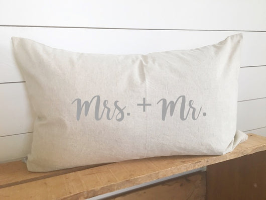 Mr Mrs Pillow Cover Kidney Design District Co
