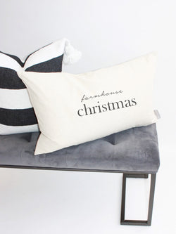 Farmhouse Christmas Kidney Pillow Cover