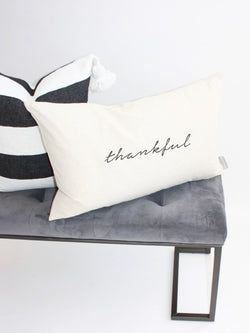 Thankful Kidney Pillow Cover // 16x26