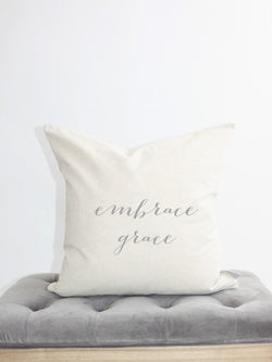 embrace grace pillow cover