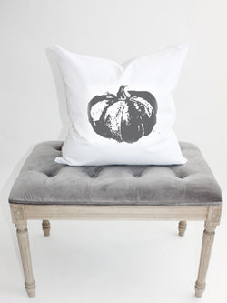 Black Stamp Pumpkin Pillow
