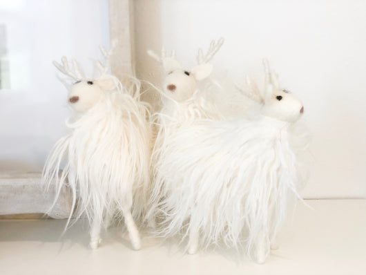 Chic White Reindeer