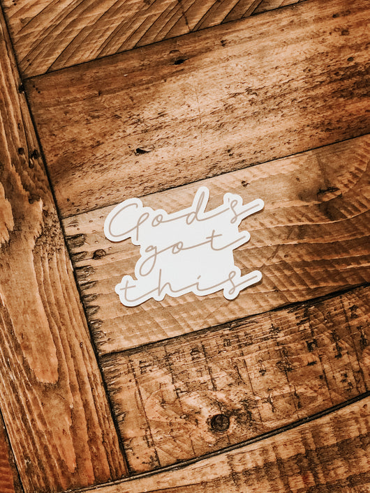 """God's got this"" sticker   (Single)"