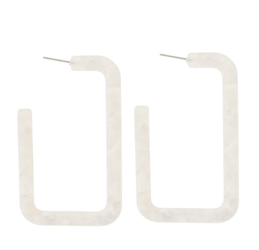 Ivory Square Resin Hoop