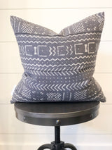 Gibson Charcoal Mudcloth Pillow Cover 18x18
