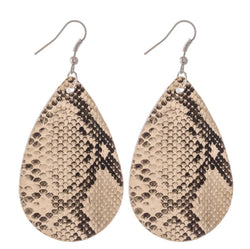 The leather snake drop Earrings