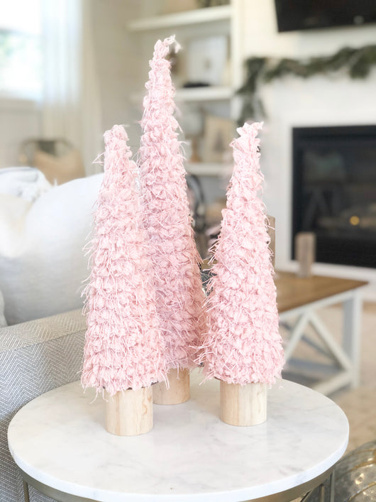 Soft Blush Texture Tree, Large