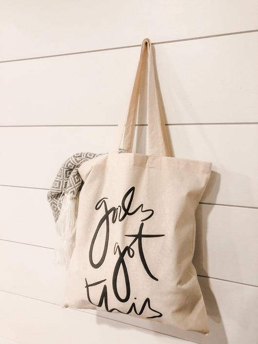 God's Got This canvas tote