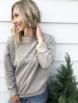 She is Strong Pebble Crewneck