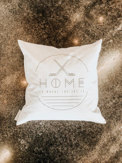 HOME is where the ice is Pillow cover