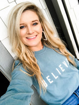 BELIEVER saltwater blue long sleeve