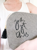 Black God's Got This Tassel Pouch