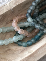 Ocean Recycled Glass Boho Beads